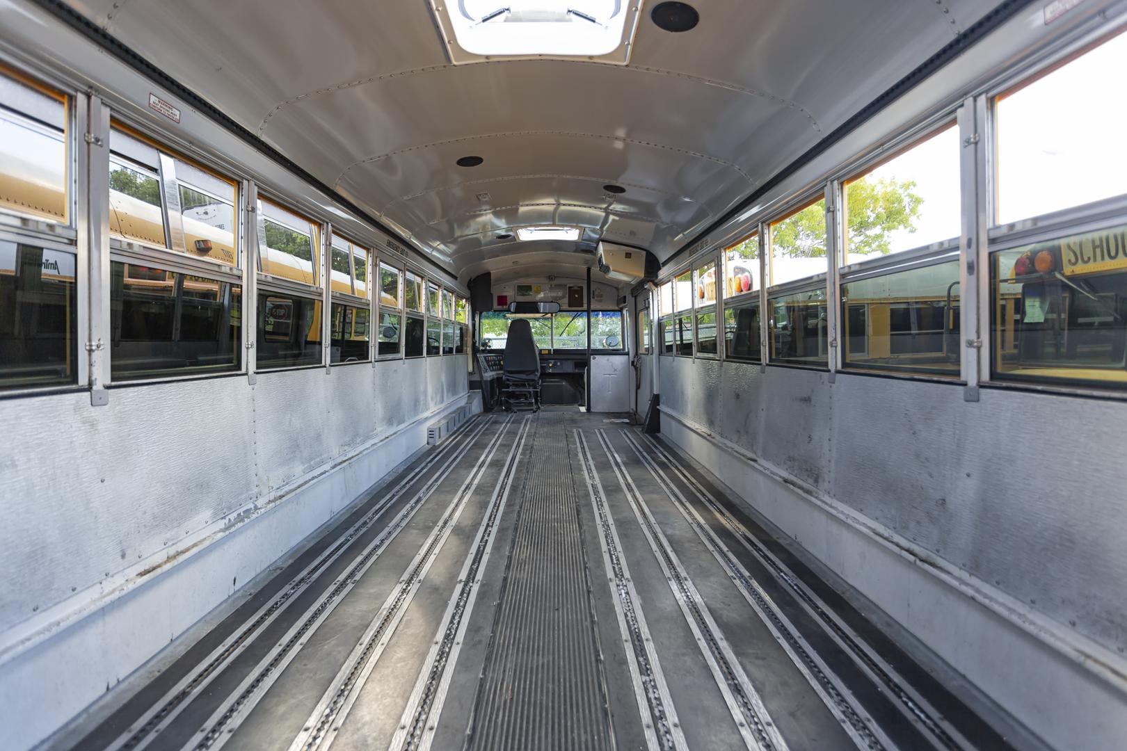 School bus tracking on floor