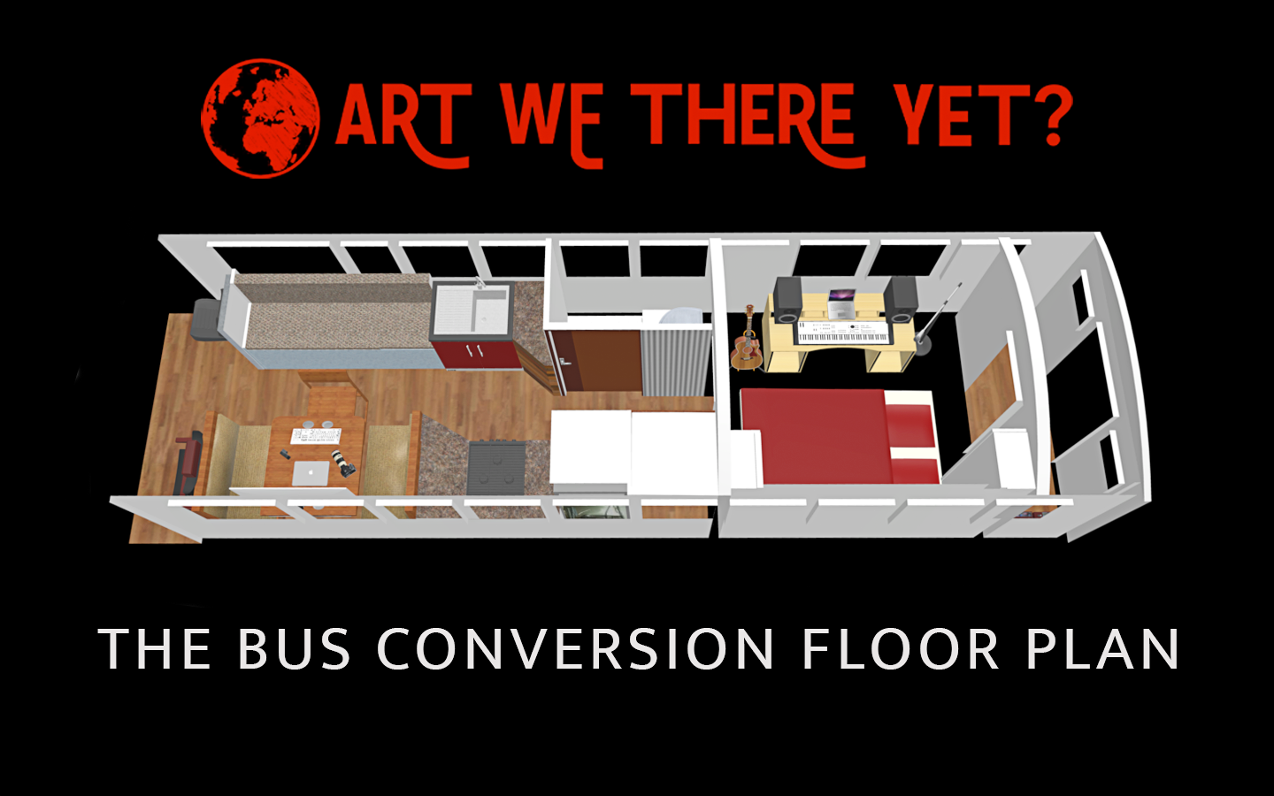 Skoolie Bus Conversion Floor Plan