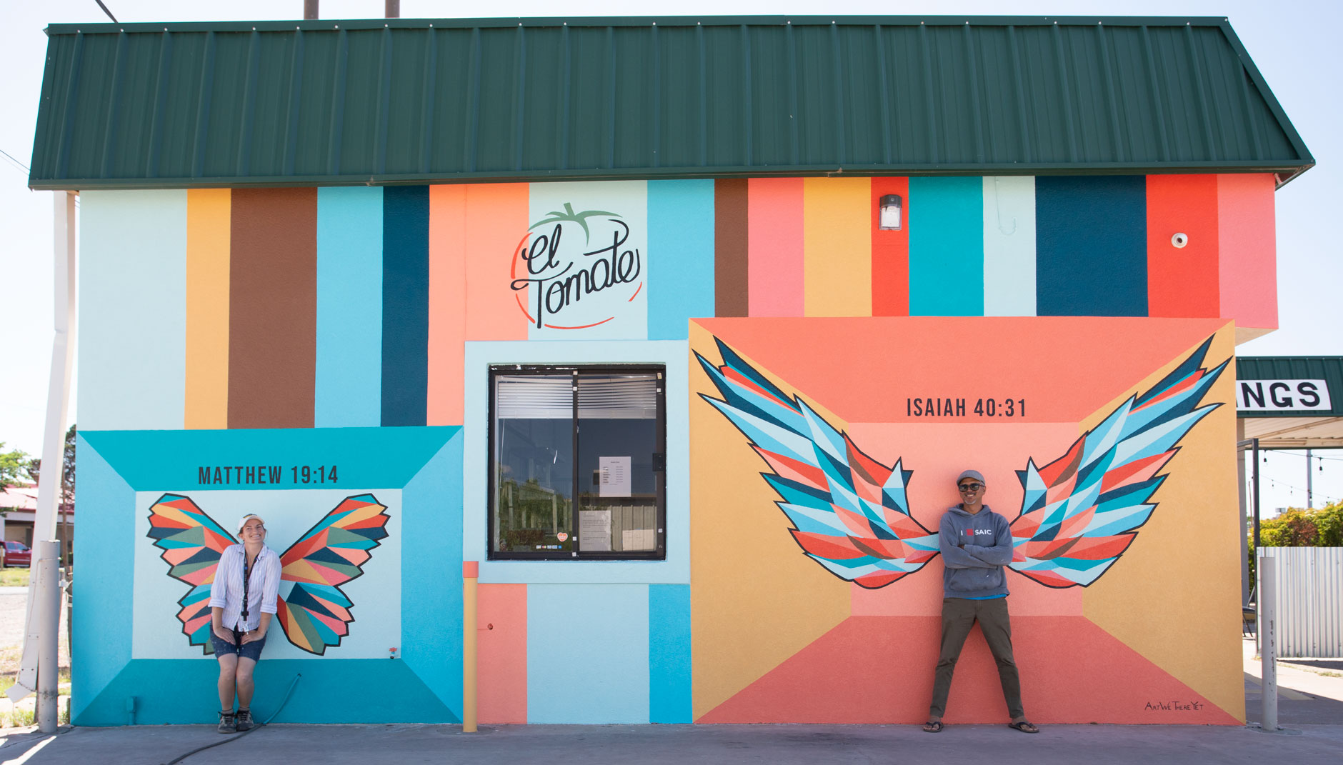 wings mural el tomate pizza shop van horn texas